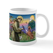 St. Francis & Weimaraner Mug