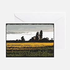 Sunlit Wheat Field Blank Greeting Card