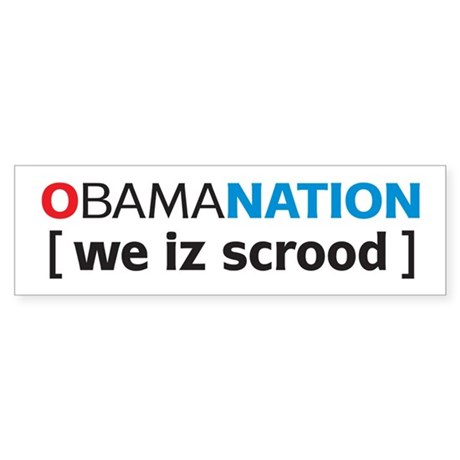 Obamanation Sticker (Bumper)