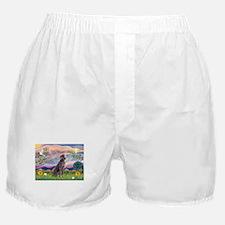 Cloud Angel & Weimaraner Boxer Shorts