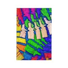 Colorful Spine Art Rectangle Magnet