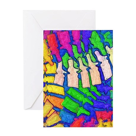 Colorful Spine Art Greeting Card
