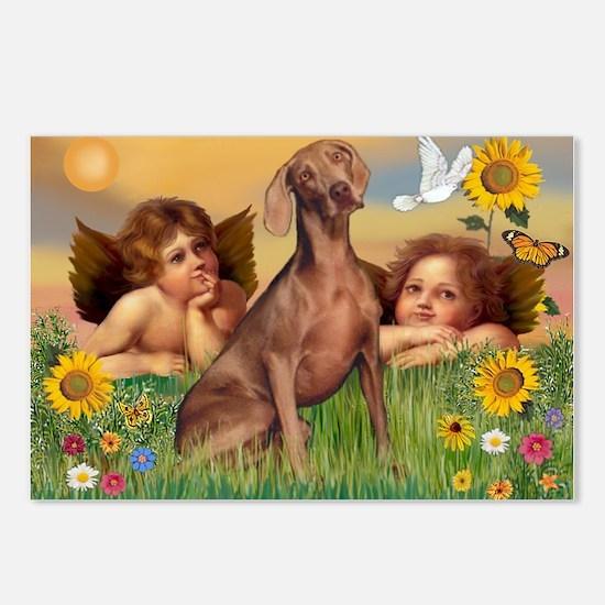 Angels & Weimaraner Postcards (Package of 8)