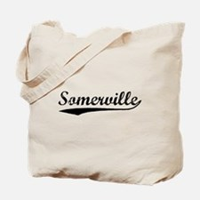 Vintage Somerville (Black) Tote Bag