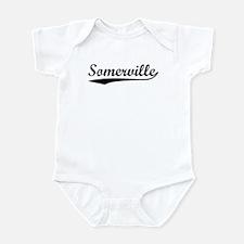 Vintage Somerville (Black) Infant Bodysuit