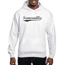 Vintage Somerville (Black) Hoodie Sweatshirt