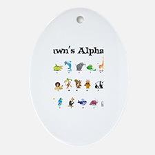 Shawn's Animal Alphabet Oval Ornament
