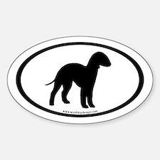 Bedlington Terrier Oval (inner bdr) Oval Decal
