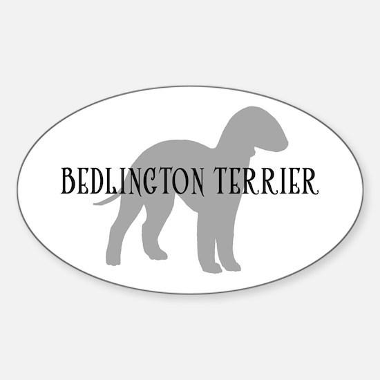Bedlington Terrier Oval Decal