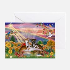 Autumn Angel / Whippet Greeting Card