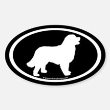 Bernese Mountain Dog Oval Oval Decal