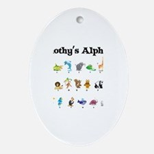Timothy's Animal Alphabet Oval Ornament