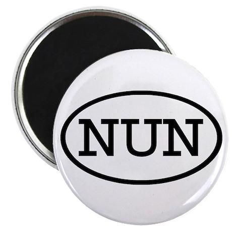 "NUN Oval 2.25"" Magnet (10 pack)"
