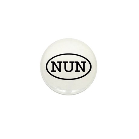NUN Oval Mini Button (10 pack)