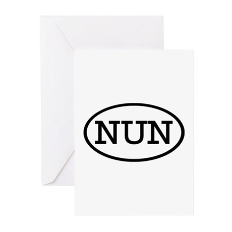 NUN Oval Greeting Cards (Pk of 20)