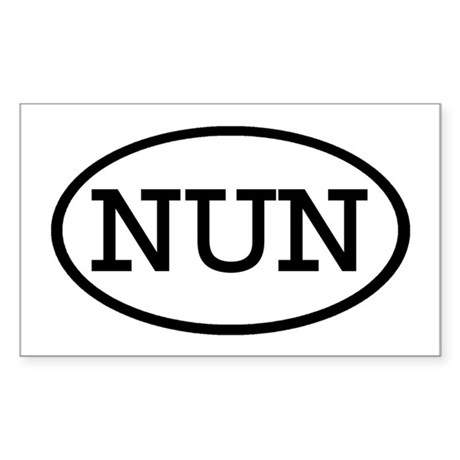 NUN Oval Rectangle Sticker