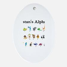 Tristan's Animal Alphabet Oval Ornament