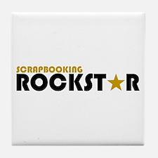Scrapbooking Rockstar 2 Tile Coaster