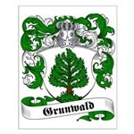 Grunwald Family Crest Small Poster