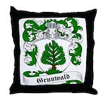 Grunwald Family Crest Throw Pillow