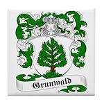 Grunwald Family Crest Tile Coaster