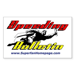 Speeding Bulletin Rectangle Decal