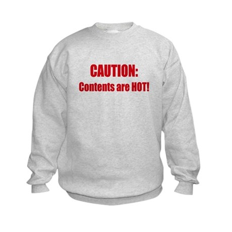Caution: Contents HOT! Kids Sweatshirt