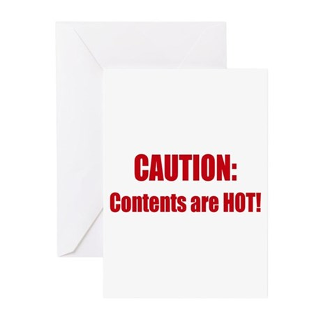 Caution: Contents HOT! Greeting Cards (Pk of 20)