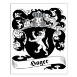 Hager Family Crest Small Poster