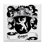 Hager Family Crest Tile Coaster