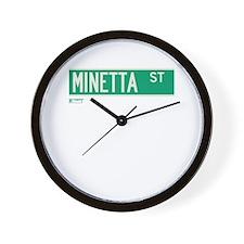 Minetta Street in NY Wall Clock