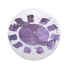 Massage Therapy Purple Ornament (Round)