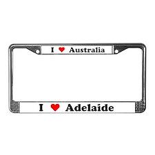 I love Adelaide License Plate Frame