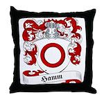 Hamm Family Crest Throw Pillow