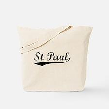 Vintage St Paul (Black) Tote Bag