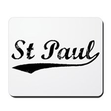 Vintage St Paul (Black) Mousepad
