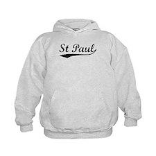 Vintage St Paul (Black) Hoodie