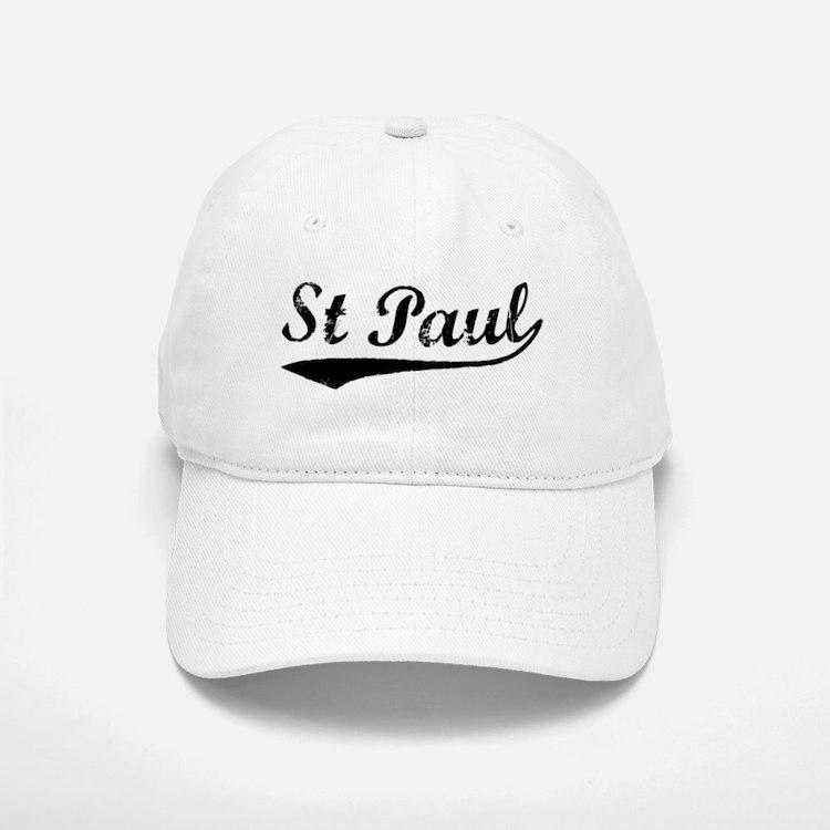 Vintage St Paul (Black) Baseball Baseball Cap