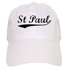 Vintage St Paul (Black) Baseball Cap