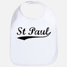 Vintage St Paul (Black) Bib