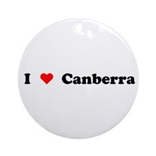 I love Canberra Ornament (Round)