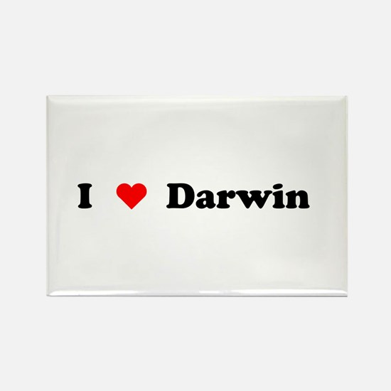 I love Darwin Rectangle Magnet (10 pack)