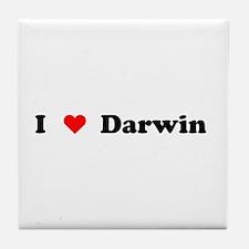 I love Darwin Tile Coaster