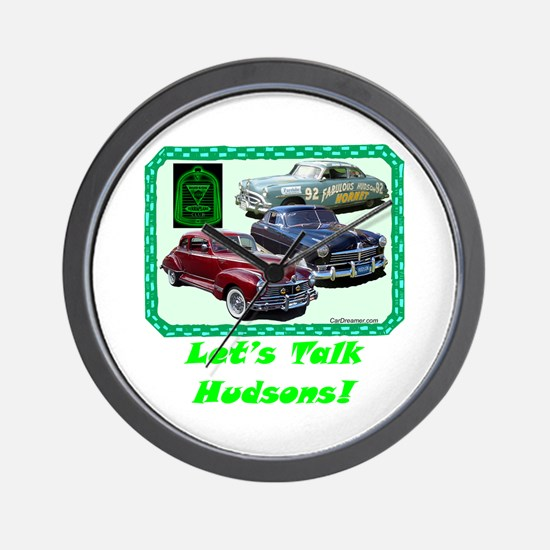 """Let's Talk Hudsons"" Wall Clock"