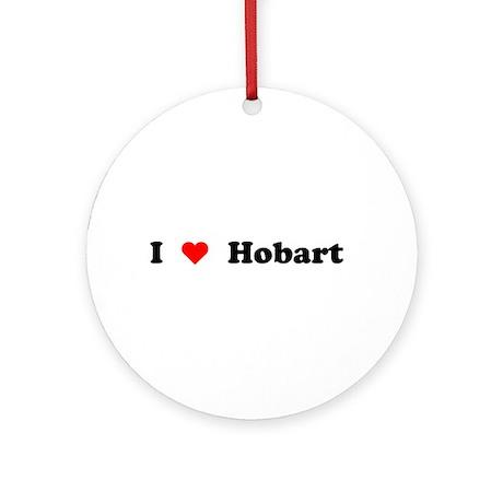 I love Hobart Ornament (Round)