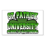 St. Patrick University School of Bartending Sticke