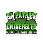 St. Patrick University School of Bartending Postca