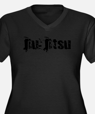 Jiu-Jitsu Women's Plus Size V-Neck Dark T-Shirt