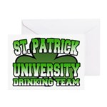 St. Patrick University Drinking Team Greeting Card