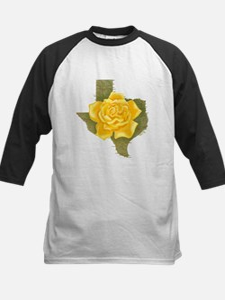 Yellow Rose of Texas Kids Baseball Jersey